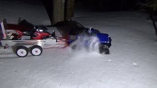 Rc snowmobile BRUSHLESS polaris rush,JUMPING,RIDE.