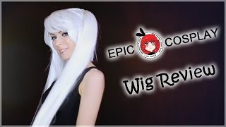 Epic Cosplay GAIA white pigtail wig and PHOEBE extensions review