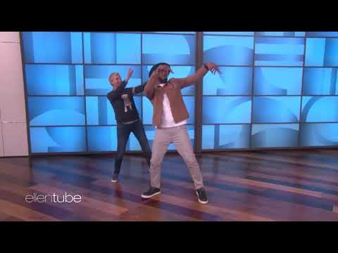 Ellen and Twitch dancing to Bodak Yellow by Cardi B
