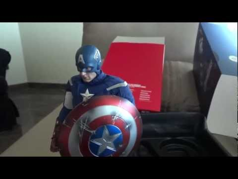 Hot Toys Captain America 1/6 - The Avengers - Review e Unbox BR