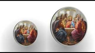 Niue 2012 - High Relief - Orthodox Serie - LAST SUPPER - Silver Set RARE