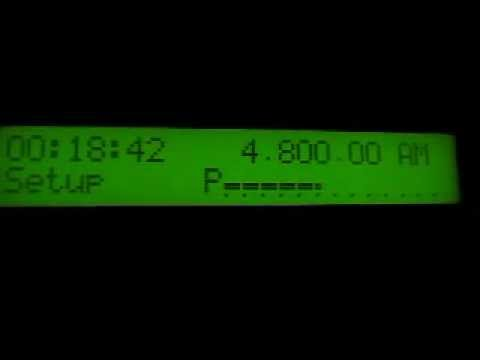 All India Radio Hyderabad 4800 kHz signing on (received in Germany)