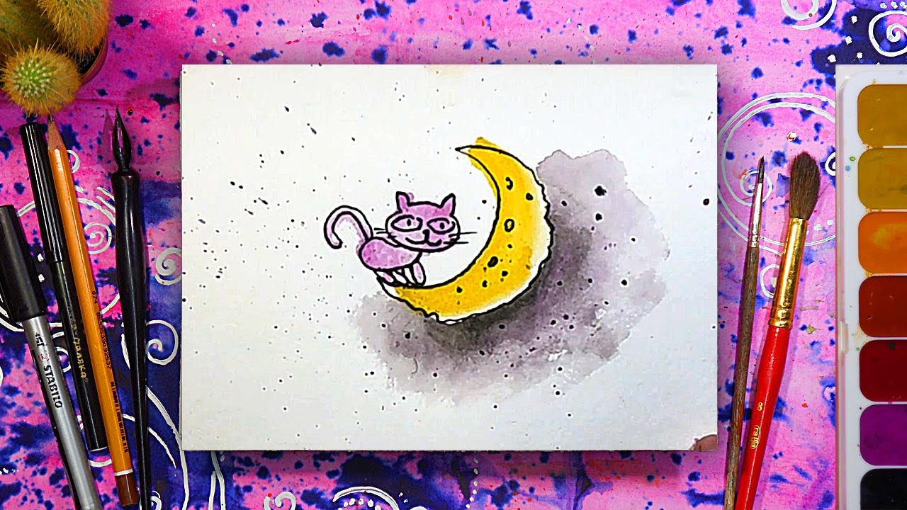 Рисовал сам открытку