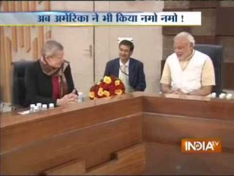 Nancy Powell, Narendra Modi's meeting begins