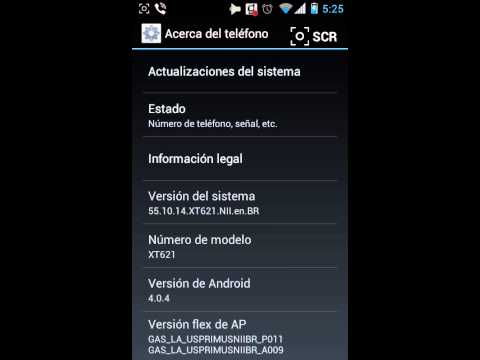 Motorola xt621 master touch con android 4.0.4