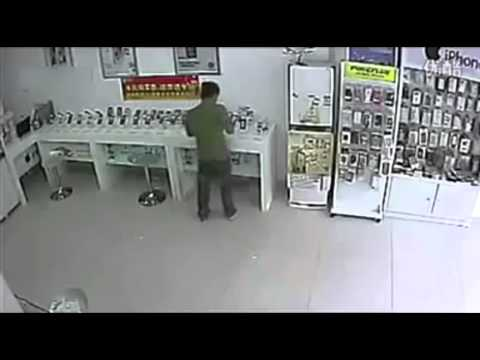 Phone Robbery Fail- when he realized he just wasn't cut out for a life of crime.