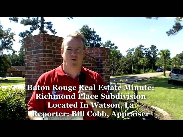 Denham Springs Real Estate Minute: Richmond Place September 2010 Update