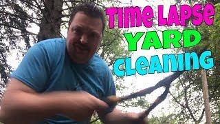Time Lapse Yard Work / Yard Cleaning