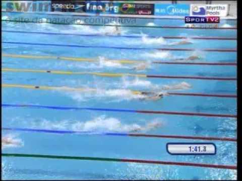 Prova completa do 4x100m livre masculino, com Nicholas dos Santos, César Cielo, Marcelo Chierighini e Nicolas Oliveira, com novo recorde sul-americano e meda...
