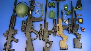 Box of Toys ! Realistic Sniper Toy Gun I Military Guns & Equipment I Sniper Rifle Toys for Kids