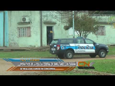 Múltiples allanamientos de la Policía Federal en Paraná y Concordia