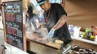 London Street Food from Japan and Vietnam. Seen in Brick Lane
