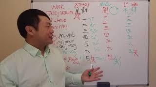 星期 Kawm Lus Suav COV HNUB NTAWM LUB TXOOJ NKAWM - DAYS OF THE WEEK in CHINESE