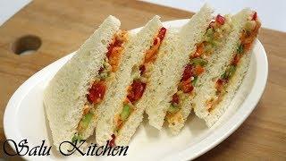 Children's Special Sandwich || Veggie-Cheese Sandwich Recipe ||Lunch Box Special ||Ep#528