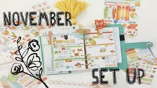 November Planner Set Up-Cocoa Daisy Planner Kit | OhSoFawn