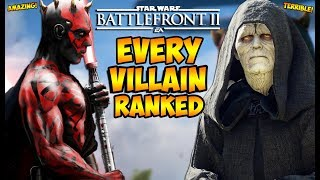 Star Wars Battlefront 2 - Every Villain Ranked from Worst to Best! (Battlefront II)