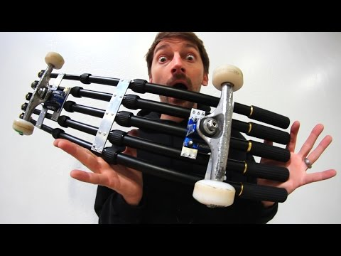 THE SELFIE STICK SKATEBOARD! | YOU MAKE IT WE SKATE IT EP 98