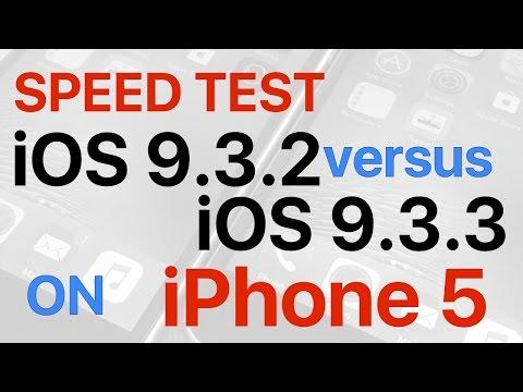 iPhone 5 : iOS 9.3.2 vs iOS 9.3.3 Final Build 13G34 Speed Test