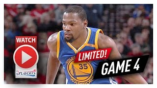 Kevin Durant Full Game 4 Highlights vs Trail Blazers 2017 Playoffs - 10 Pts, 3 Reb