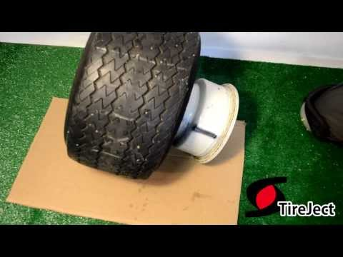 TireJect Tire Repair: Easy to clean up and remove sealant from demounted tire
