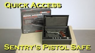 Sentry Quick Access Pistol Safe QAP1E Review and un-boxing