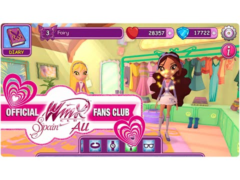 Winx Fairy School Game - Bedroom and Dress Up