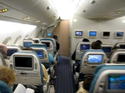 Singapore Airlines A380 economy main deck and upper deck