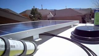 Solar Panel Kit LCD Charge Controller Install Overview in RV CamperVan