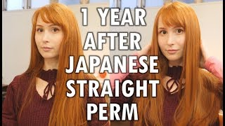 1 year after Japanese straight perm