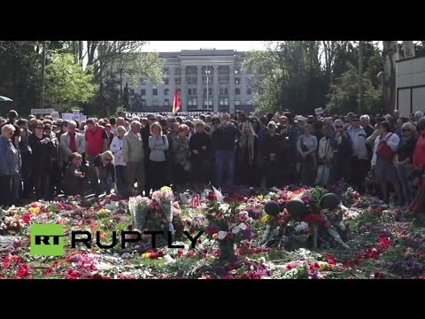 LIVE: Odessa massacre commemoration goes ahead amid tensions