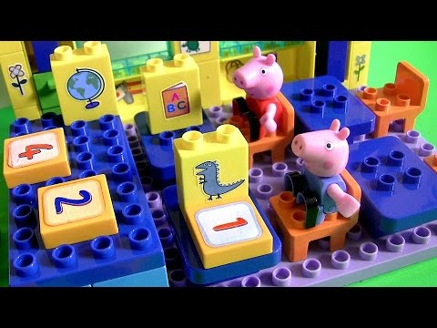 Peppa Pig School Blocks to Build like Lego Juguete para Construir Escuela Bloks Schoolhouse