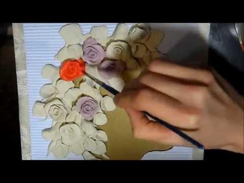как лепить красиву картину с розами. Силуэт девушки в роза.