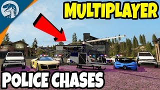 POLICE CHASES, HELICOPTERS, PATROLS & SUVS | Farming Simulator 17 Multiplayer Gameplay