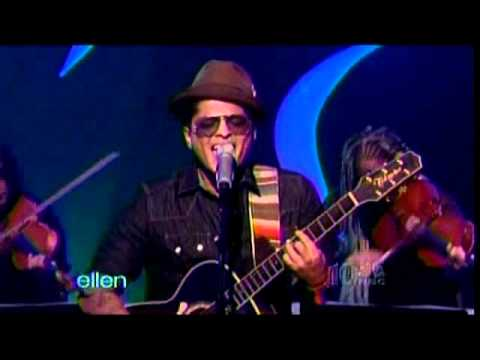 Bruno Mars performing Grenade on Ellen (w/ interview)