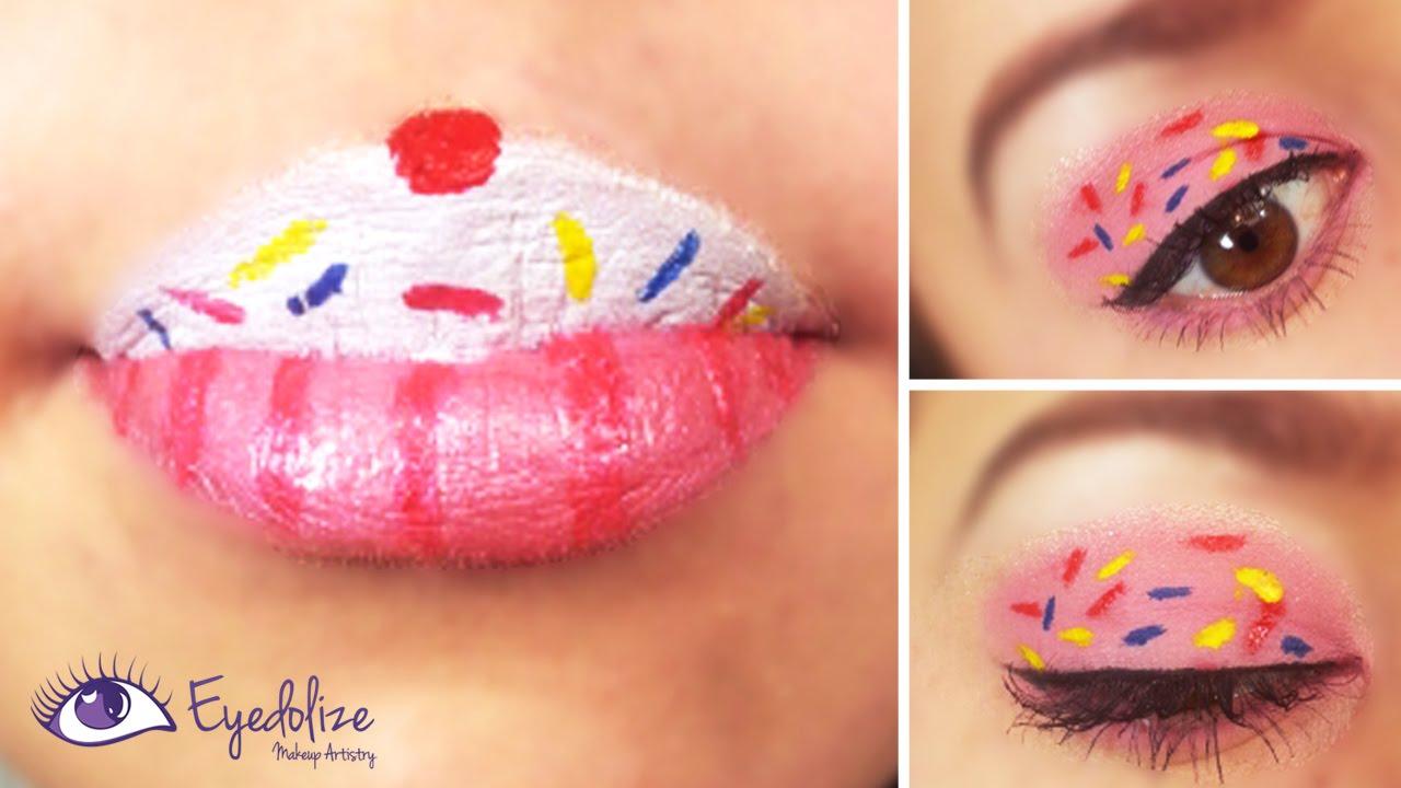Makeup Cupcake Cake