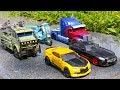 Transformers 5 2017 TLK Autobots Optimus Prime Bumblebee Hound Drift Sqweeks Hound Car Robot Toys thumbnail