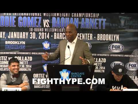 VICTOR ORTIZ VS LUIS COLLAZO PRESS CONFERENCE HD