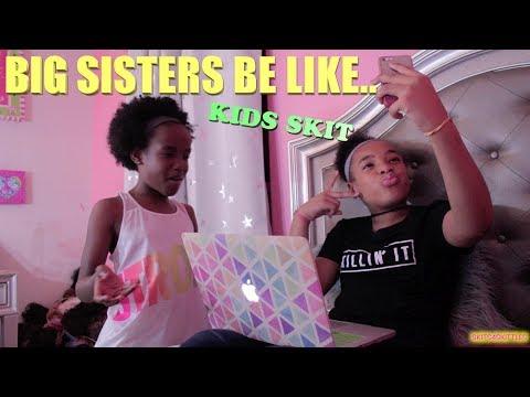 BIG SISTERS BE LIKE...(FUNNY KIDS SKIT!) thumbnail