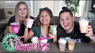 Trying OUR subscribers FAVORITE Starbucks drinks! *HILARIOUS*