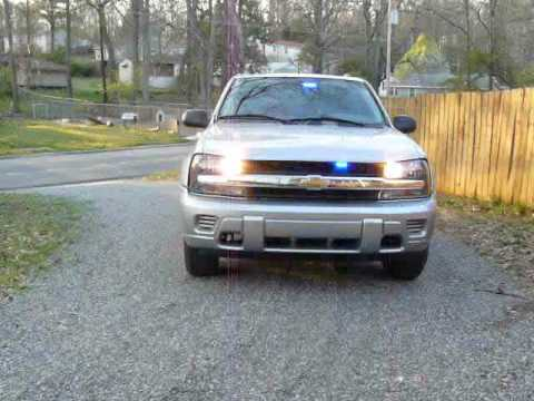 Trailblazer police lights LED strobes unmarked