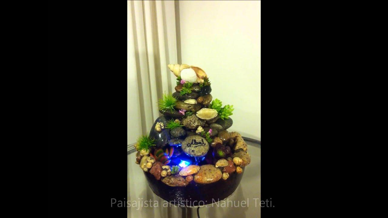 Fuente de agua con caracoles y piedras de la patagonia - Fuentes decoracion interior ...