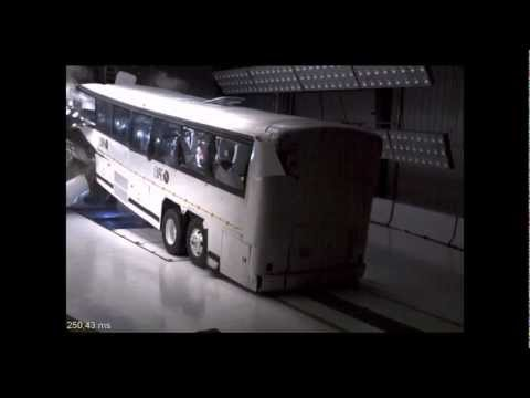 MCI Bus | 1999 | Frontal Bus Crash Test | NHTSA | CrashNet1