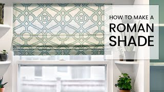 How To Make A Roman Shade