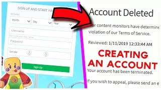 Roblox BANNED me for CREATING AN ACCOUNT