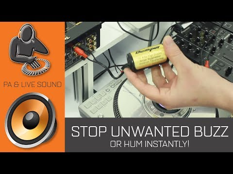 How to Stop Unwanted Buzzing or Humming From Disco DJ Sound Systems and PA
