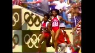 1988 Olympic Women's 4x100 Relay - BEST RELAY FINISH EVER!!