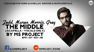 Download Lagu Zedd, Maren Morris, Grey - The Middle (Acapella - Vocals Only) + Off Inst Gratis STAFABAND
