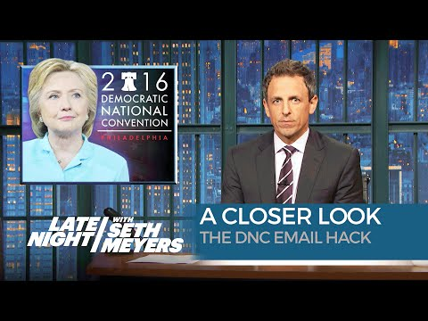 Seth Meyers is the only major comedian to actually criticize the DNC Email Hack