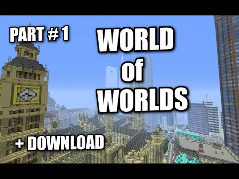 Minecraft PS3 - WORLD OF WORLDS - EPIC MAP DOWNLOAD + REVIEW ( PS4 / XBOX )