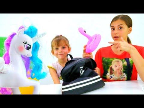 Принцесса Селестия - собираем рюкзак в школу - Видео для девочек.